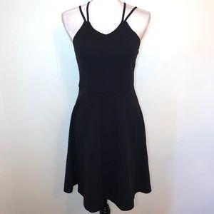 Zunie Big Girls Strappy Fit & Flare Black Dress